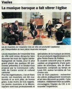 Article de presse Voix de Ville (02/2011)